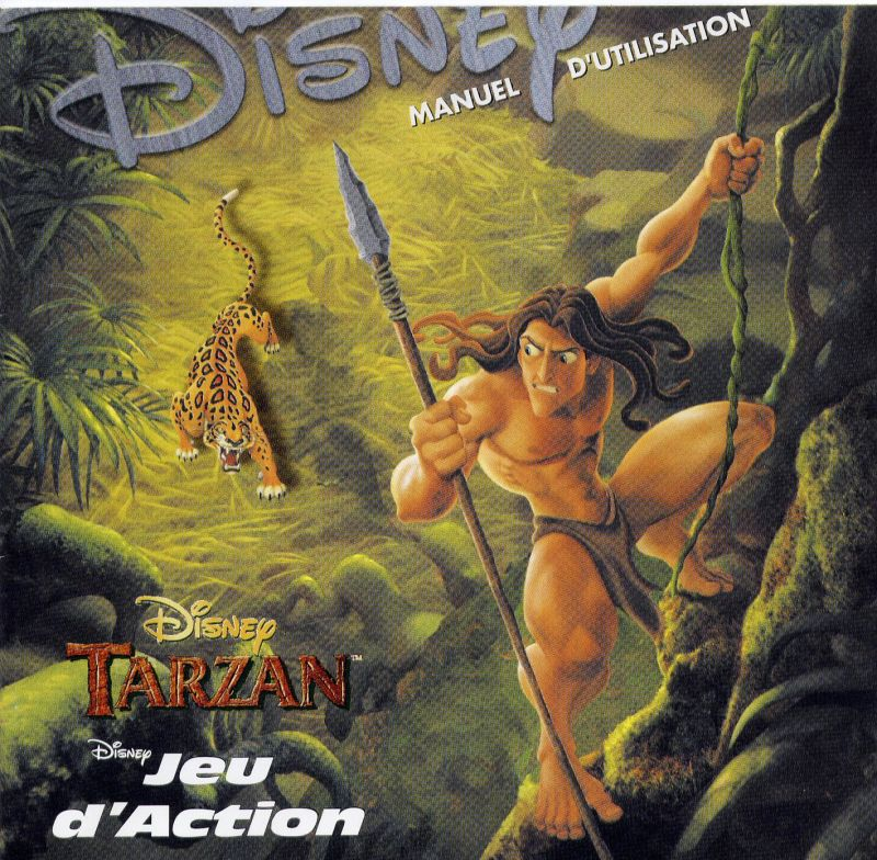 Disney's Tarzan Windows Front Cover Also Front of Manual