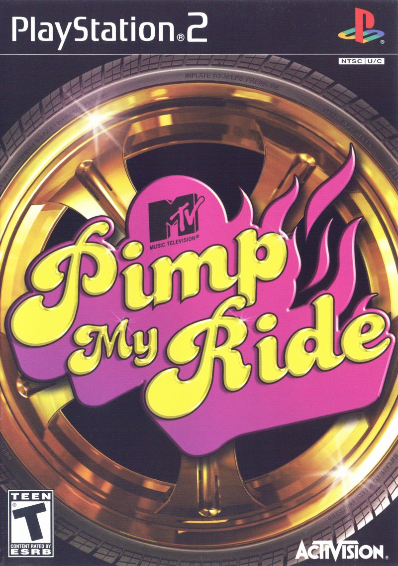 MTV Pimp My Ride PlayStation 2 Front Cover