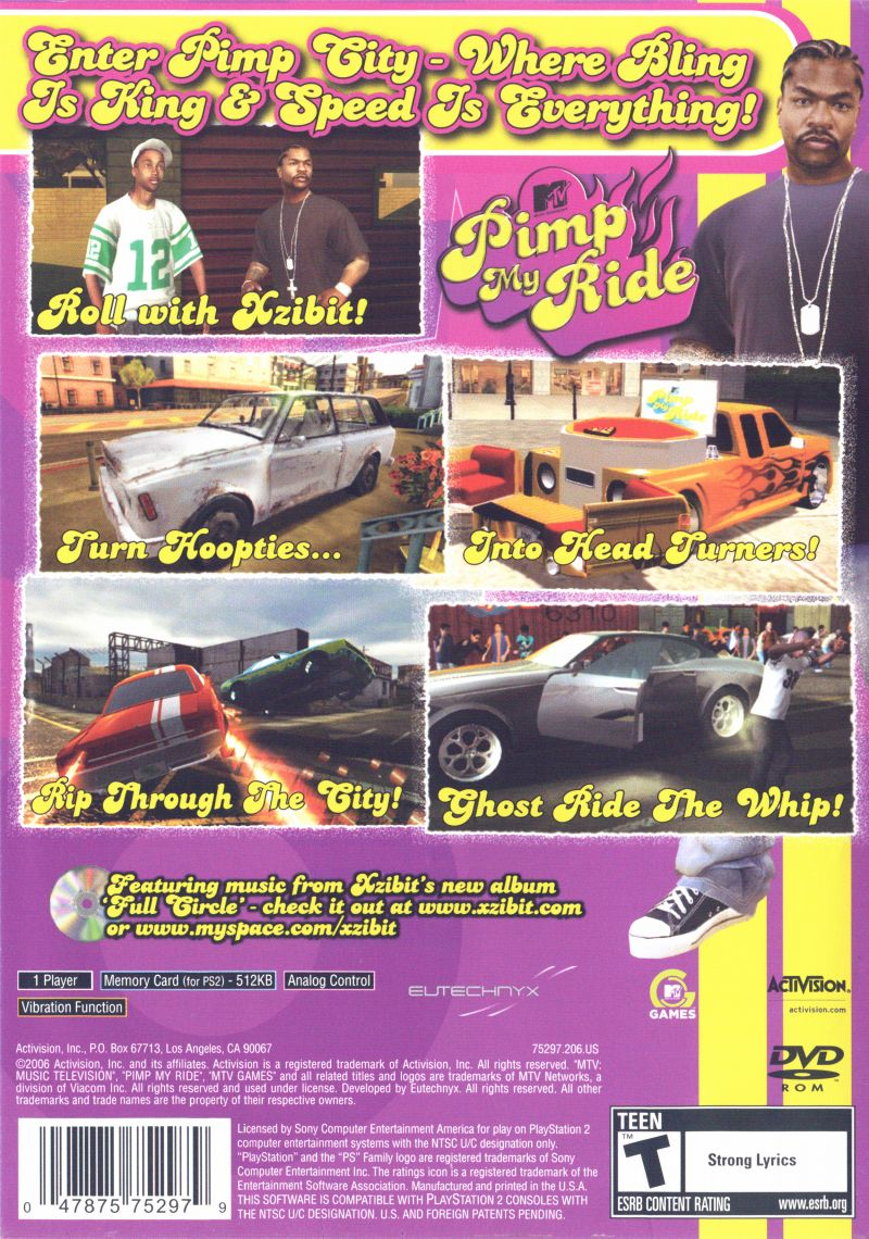 MTV Pimp My Ride (2006) PlayStation 2 box cover art