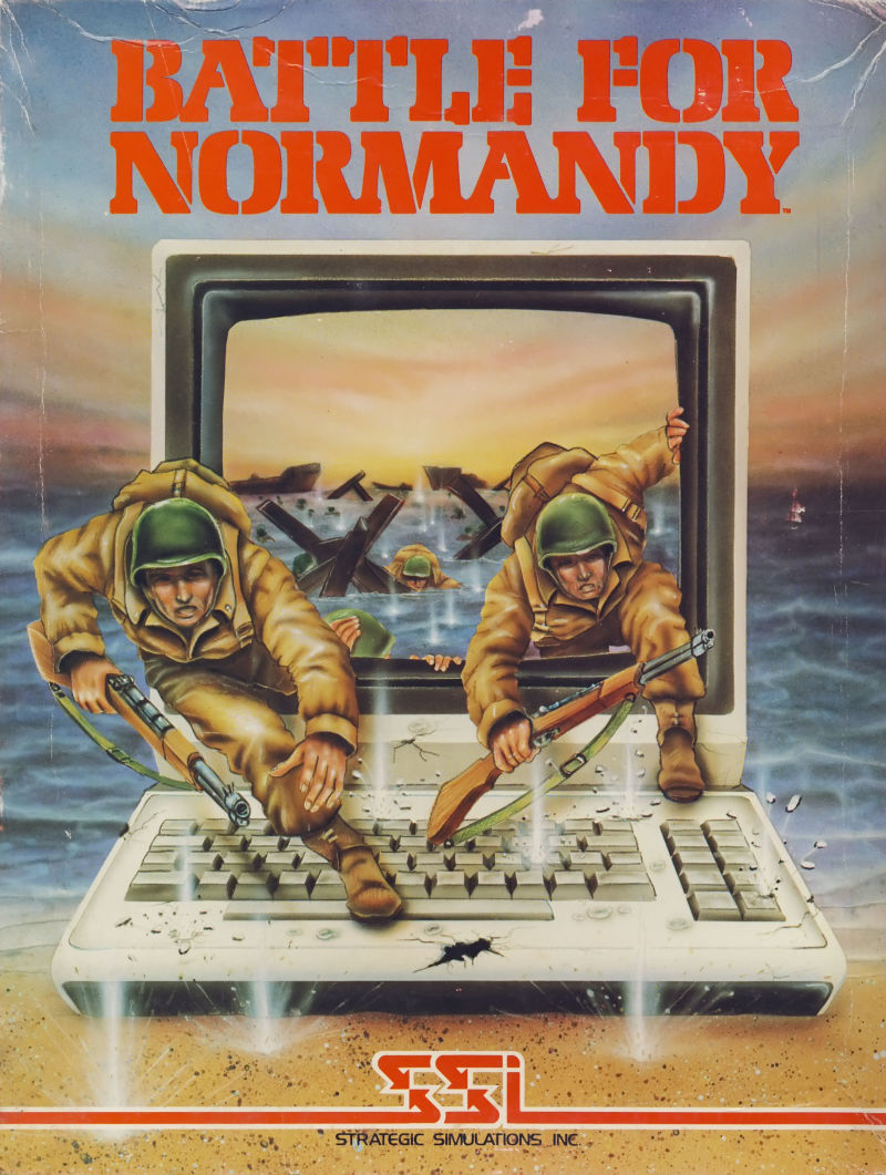 Battle for Normandy Atari 8-bit Front Cover