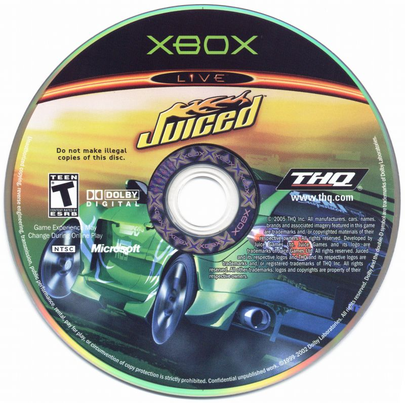 Juiced (2005) Xbox box cover art - MobyGames