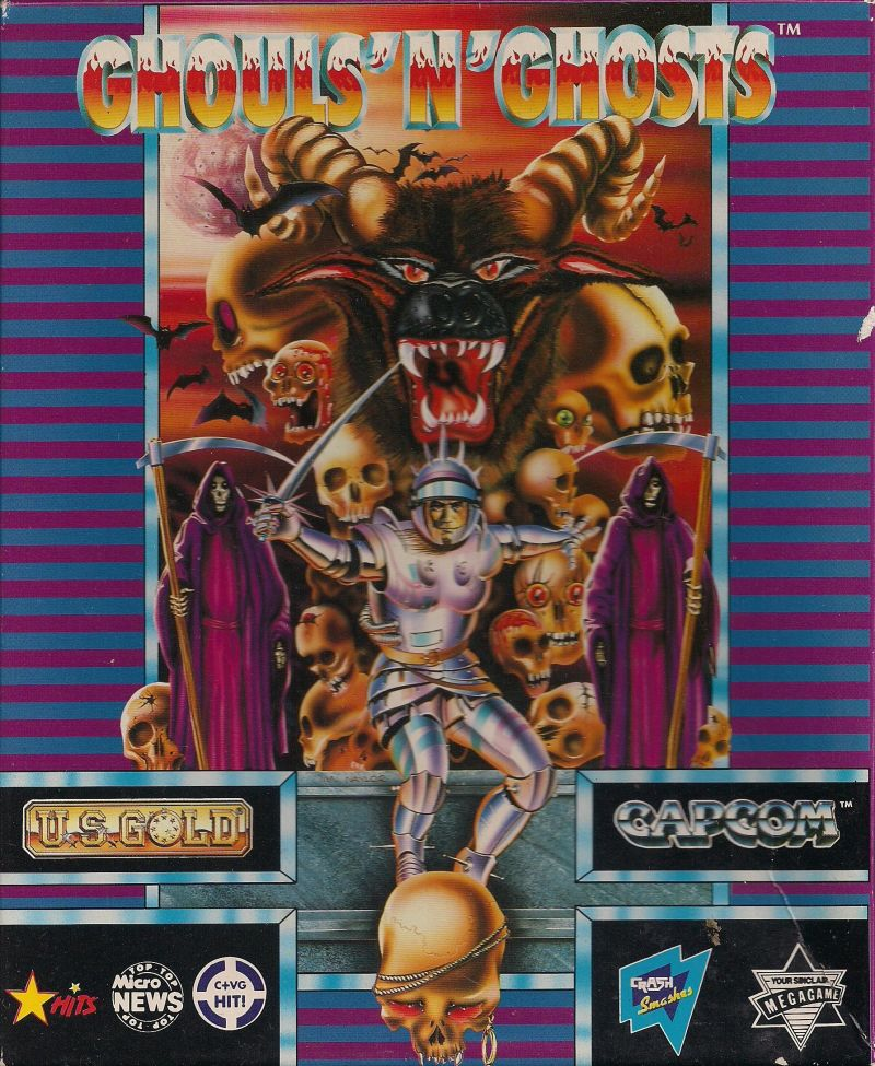 Ghouls 'N Ghosts Atari ST Front Cover