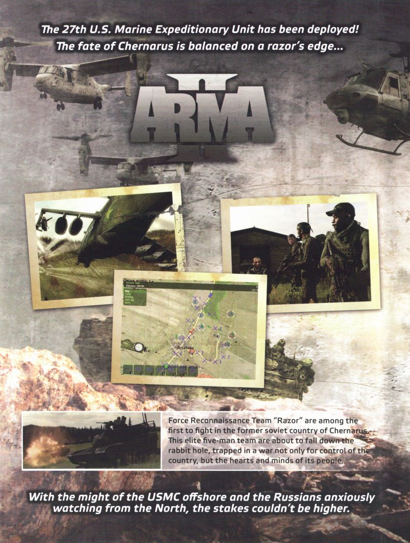 ArmA II: Combined Operations Windows Other Keep Case - Inside Left