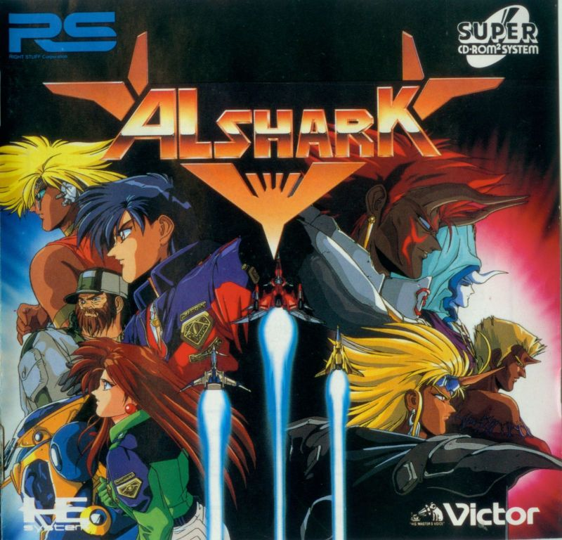 Alshark TurboGrafx CD Front Cover