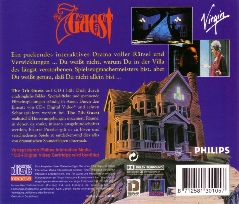 The 7th Guest CD-i Back Cover