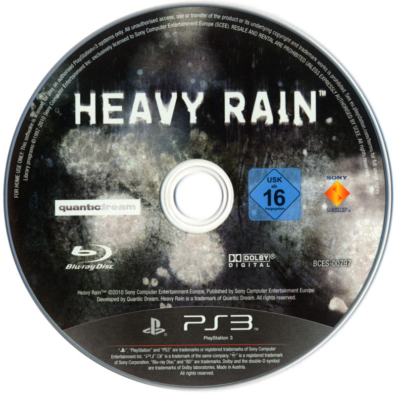 Heavy Rain PlayStation 3 Media