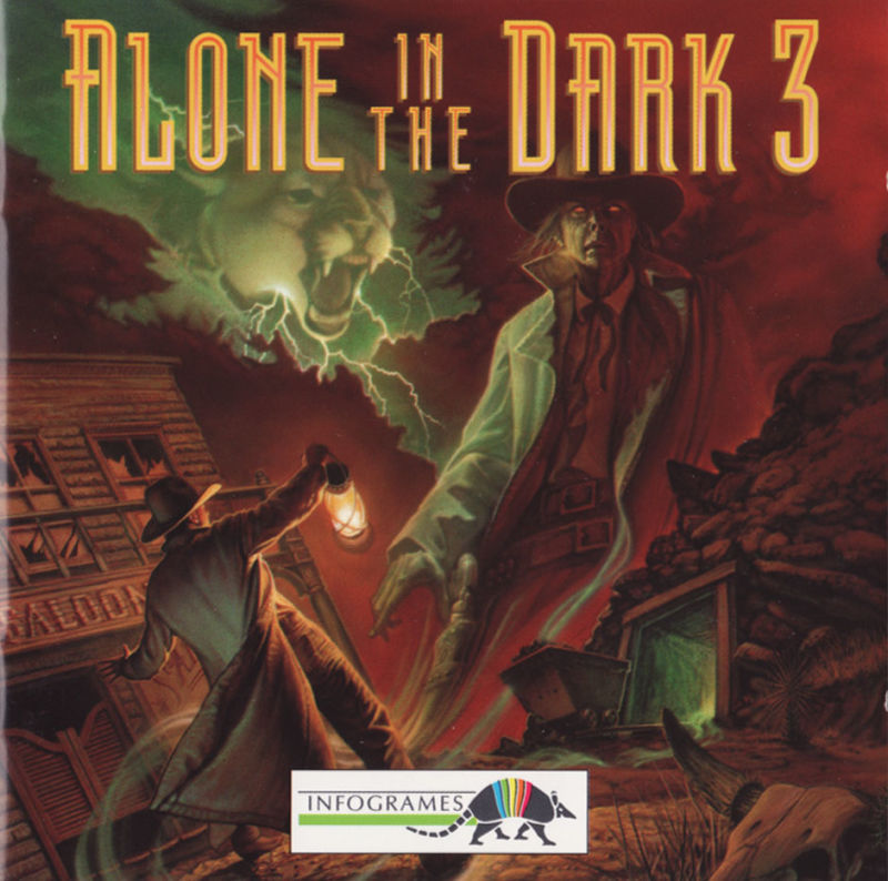 Alone In The Dark The Trilogy 1 2 3 1995 Dos Box Cover Art