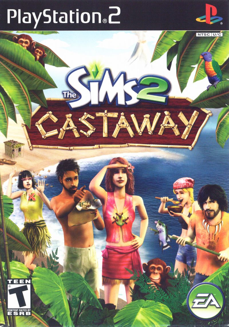 The Sims 2: Castaway PlayStation 2 Front Cover