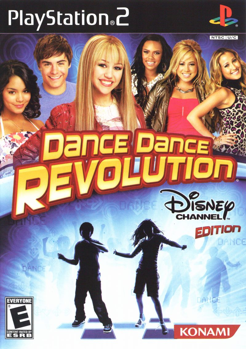 Dance Dance Revolution: Disney Channel Edition PlayStation 2 Front Cover
