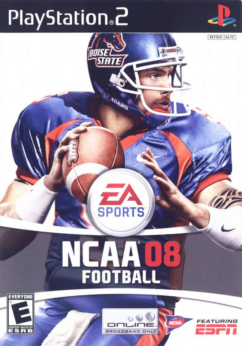 NCAA Football 08 PlayStation 2 Front Cover
