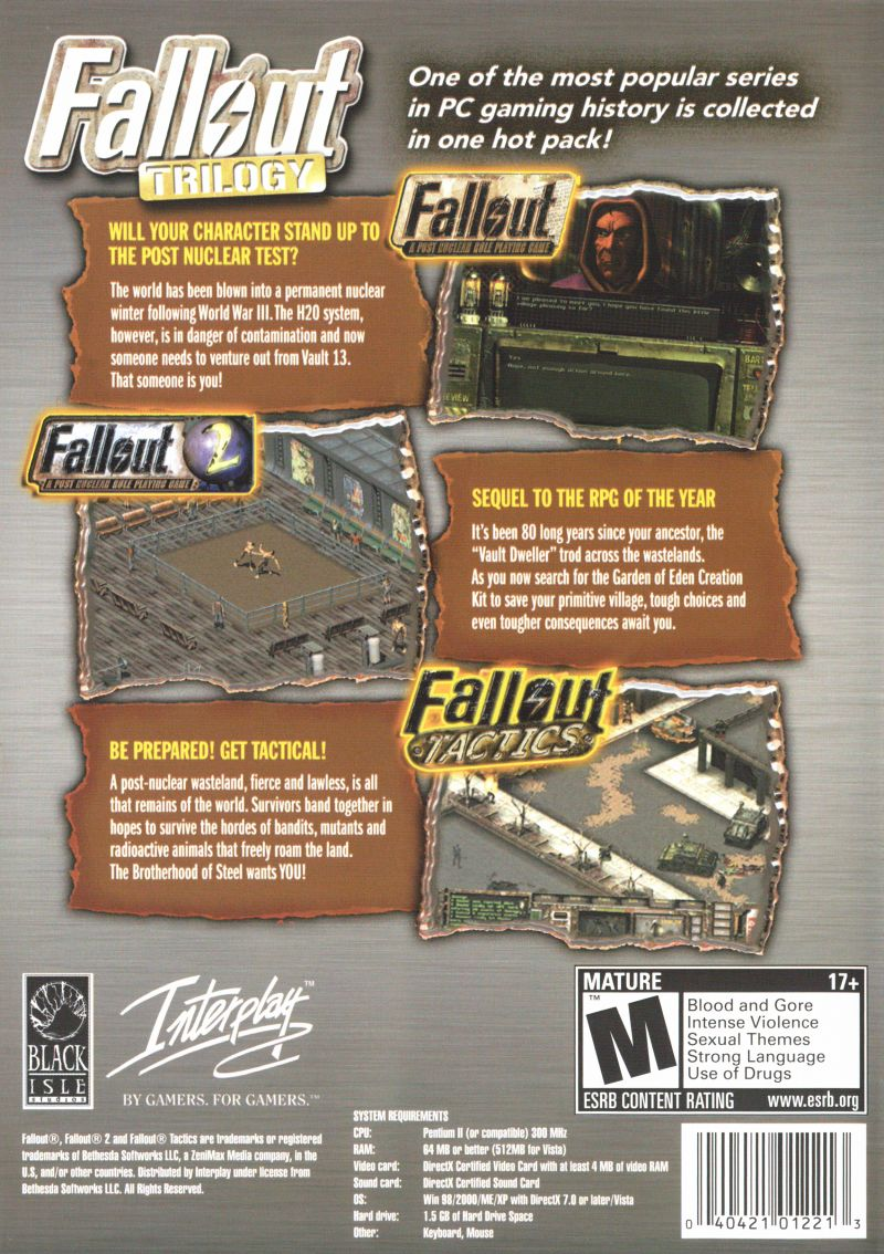 Fallout: Trilogy Windows Other Keep Case - Back