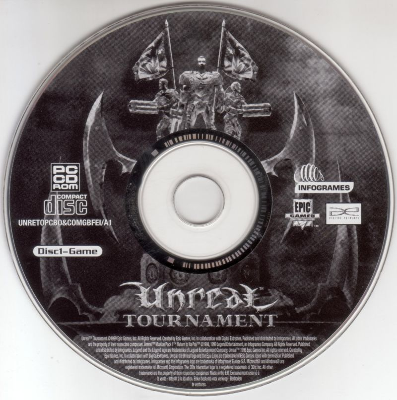 Unreal Tournament Windows Media Game Disc