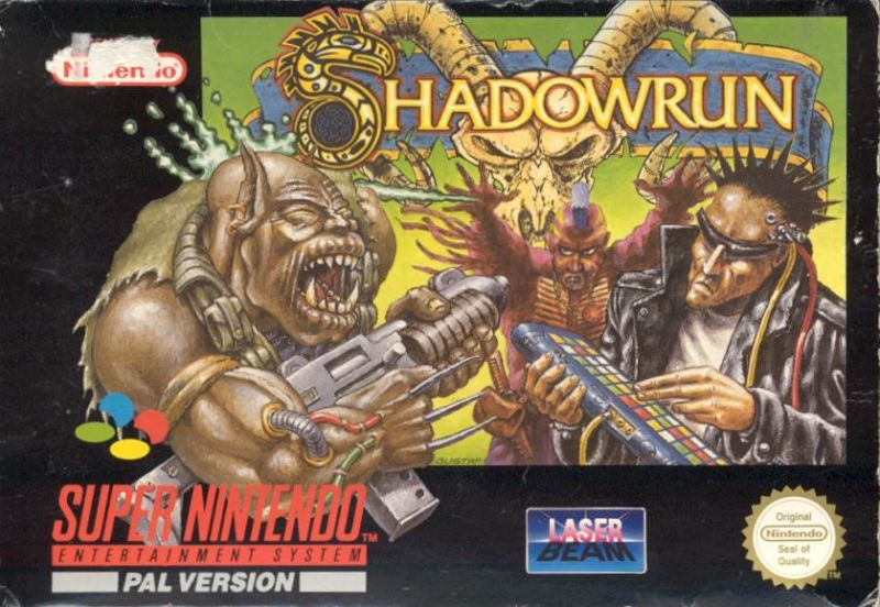 Shadowrun SNES Front Cover