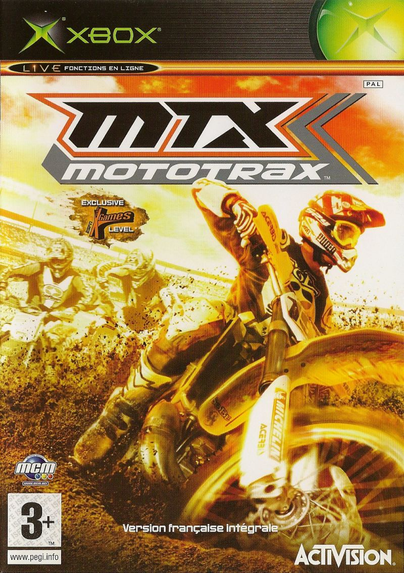 MTX Mototrax Xbox Front Cover