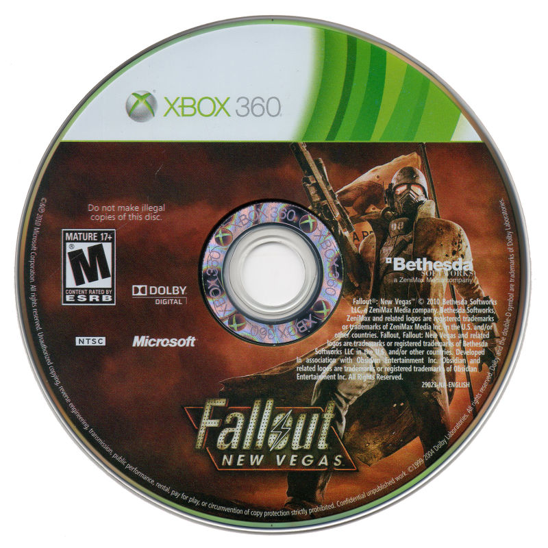 Fallout: New Vegas Xbox 360 Media