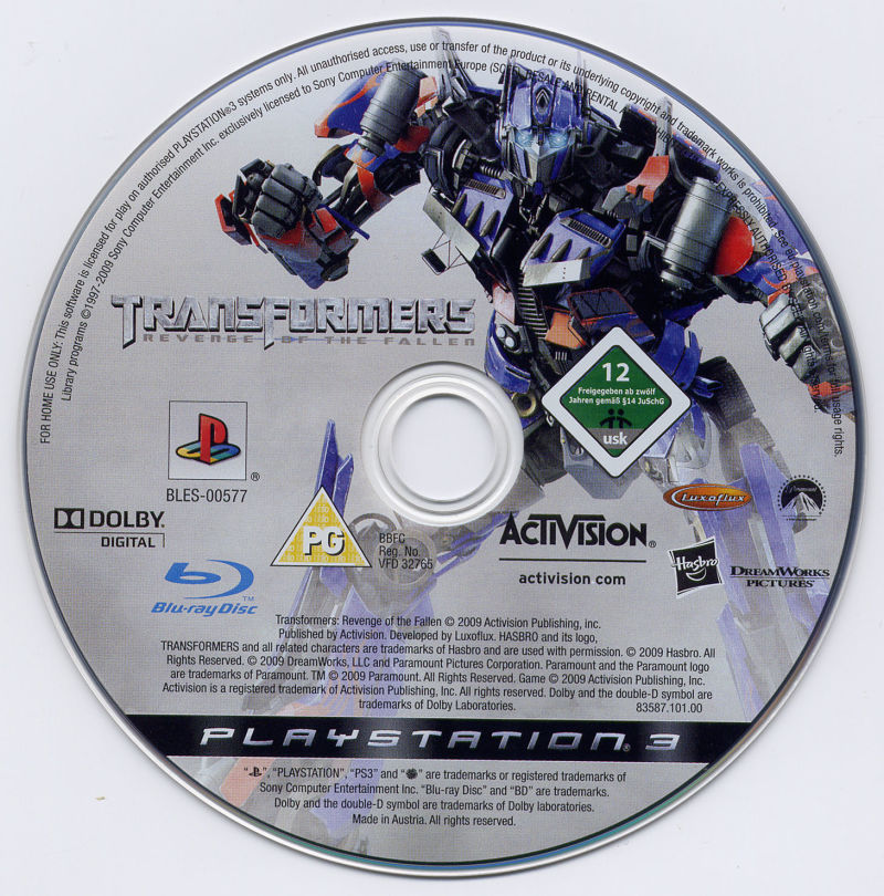 Transformers: Revenge of the Fallen PlayStation 3 Media