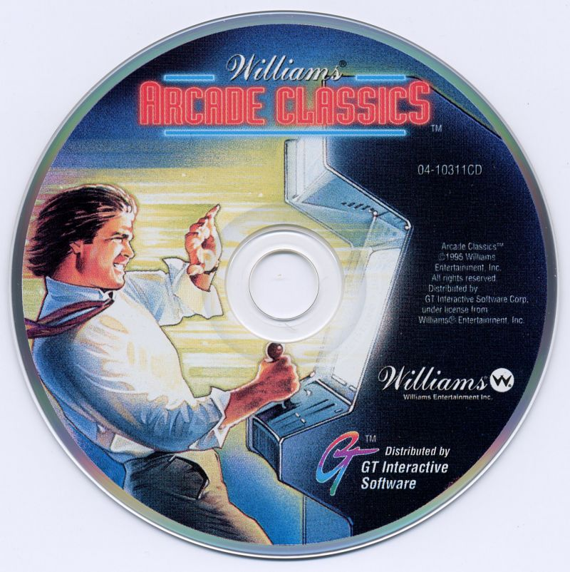 Williams Arcade Classics DOS Media