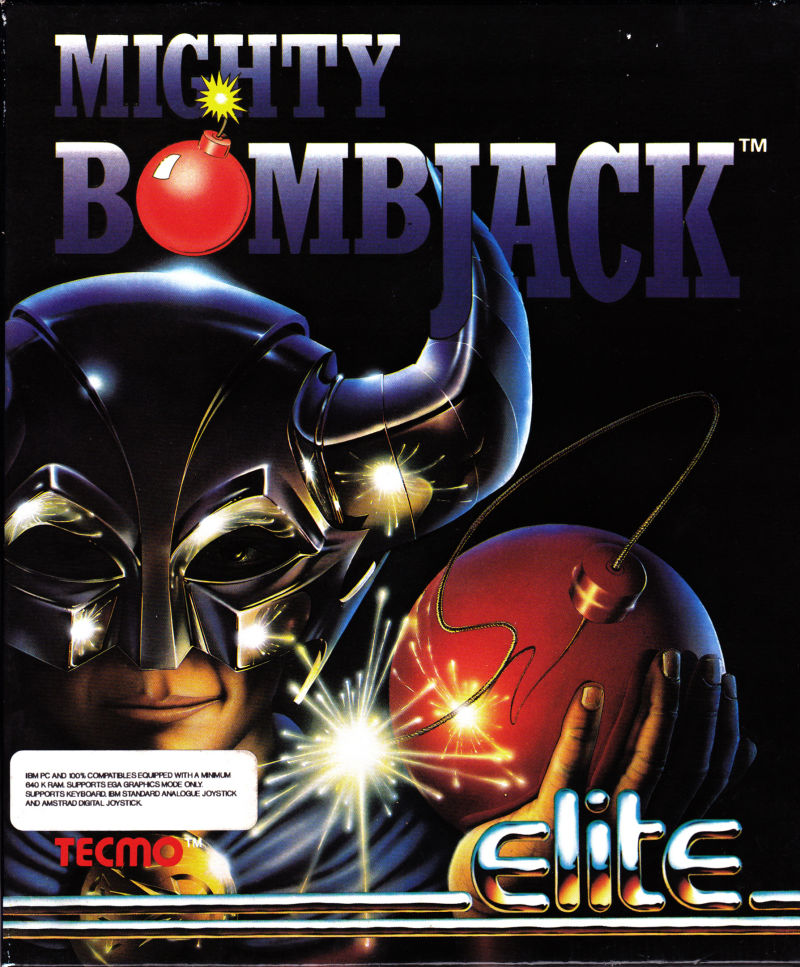 Mighty Bombjack DOS Front Cover