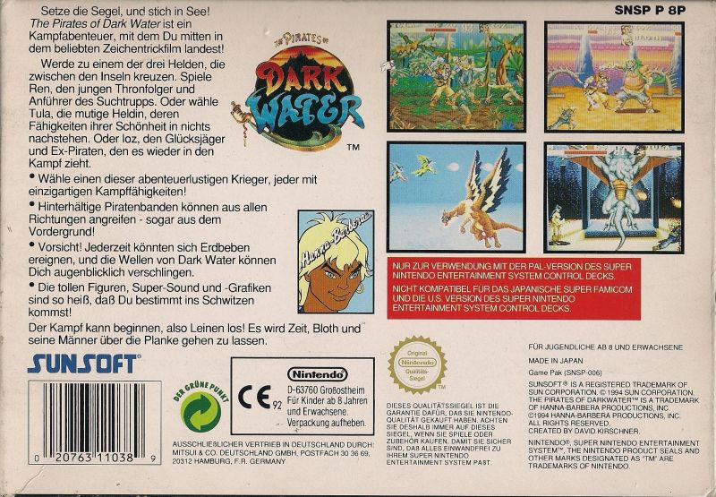 The Pirates Of Dark Water 1994 Snes Box Cover Art Mobygames