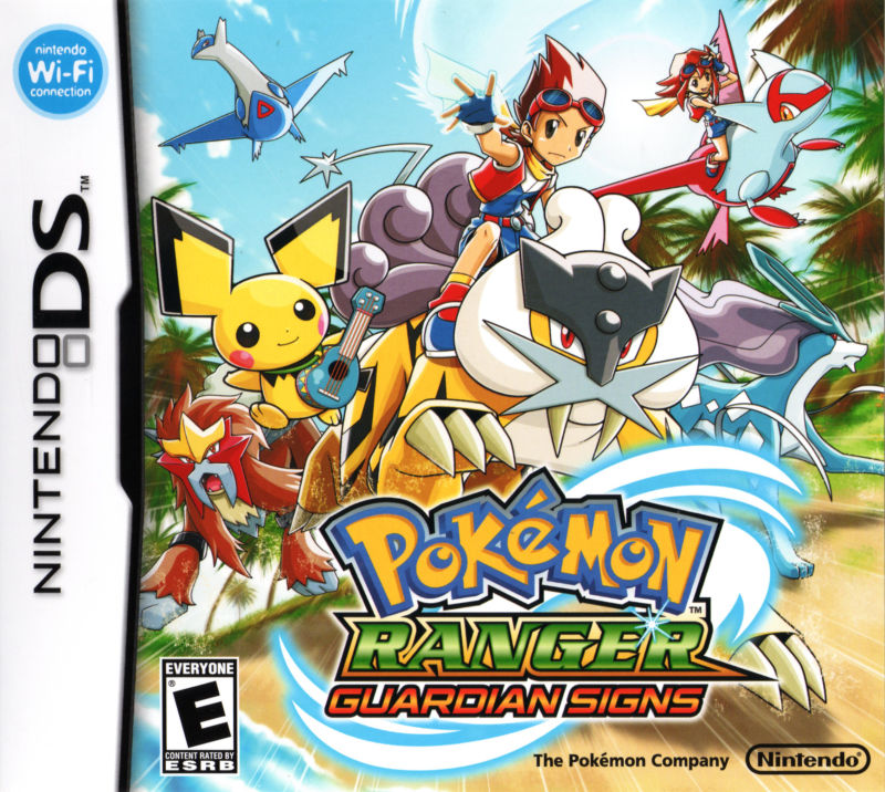 Pokémon Ranger: Guardian Signs Nintendo DS Front Cover
