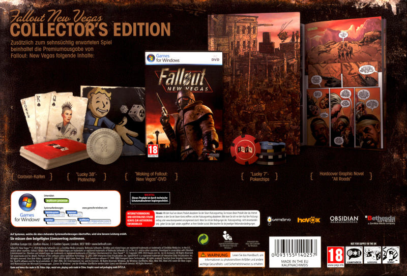 Fallout: New Vegas (Collector's Edition) Windows Back Cover