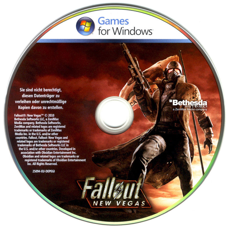 Fallout: New Vegas (Collector's Edition) Windows Media Game Disc