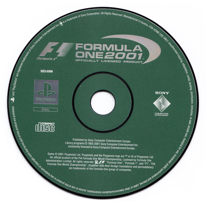 Formula One 2001 PlayStation Media