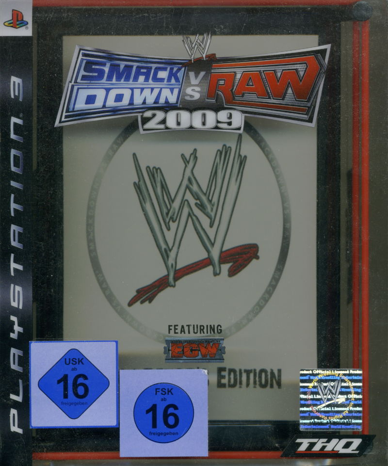 WWE Smackdown vs Raw 2009 (Collector's Edition) PlayStation 3 Front Cover