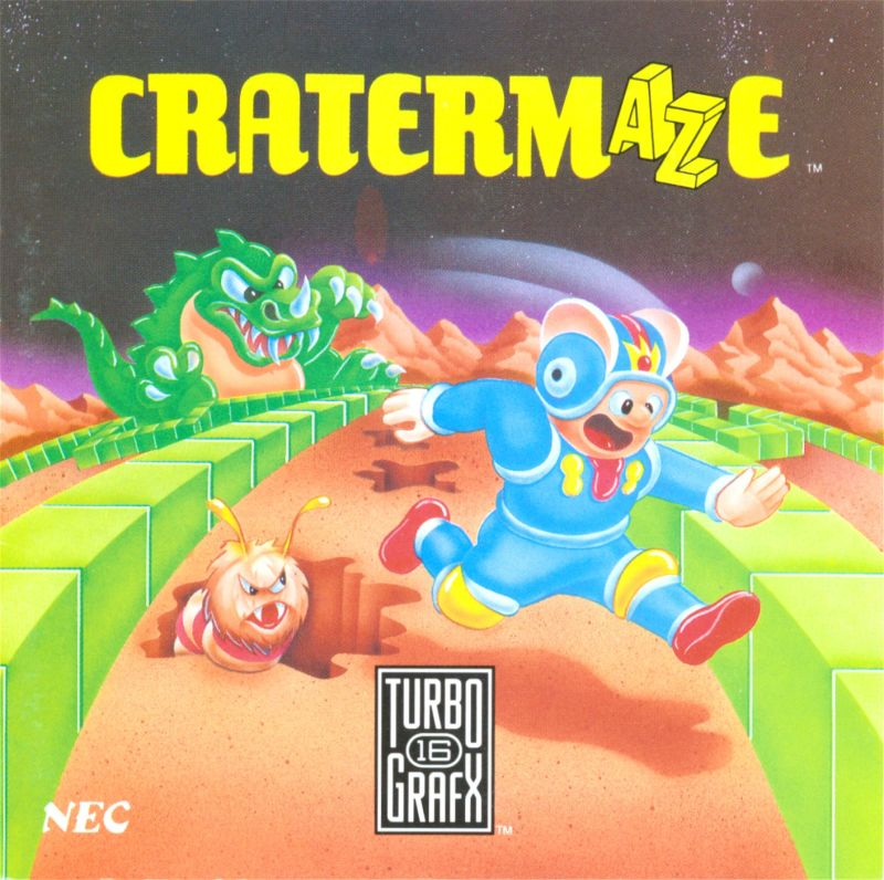 Cratermaze TurboGrafx-16 Front Cover