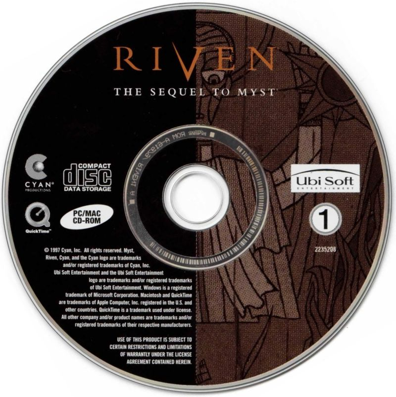Riven: The Sequel to Myst Macintosh Media Disc 1