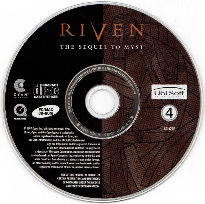 Riven: The Sequel to Myst Macintosh Media Disc 4
