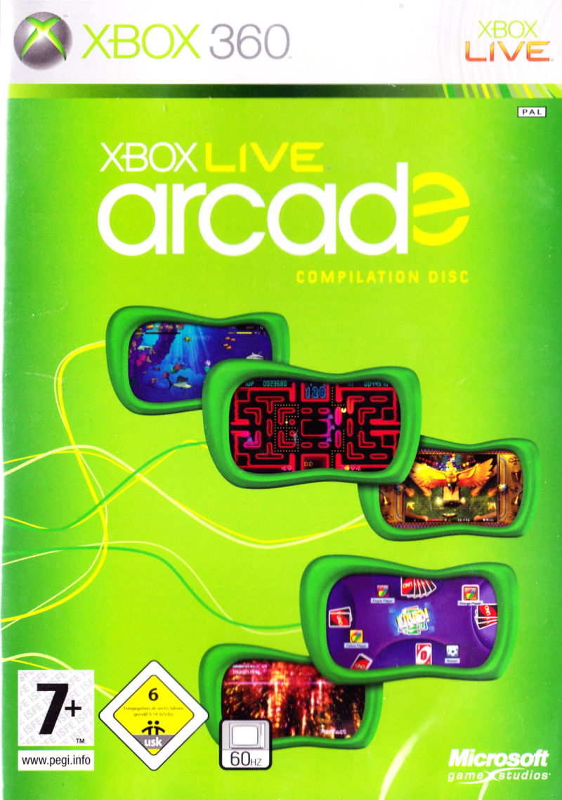 Xbox Live Arcade Compilation Disc for Xbox 360 (2007 ...Xbox 360 Games Covers