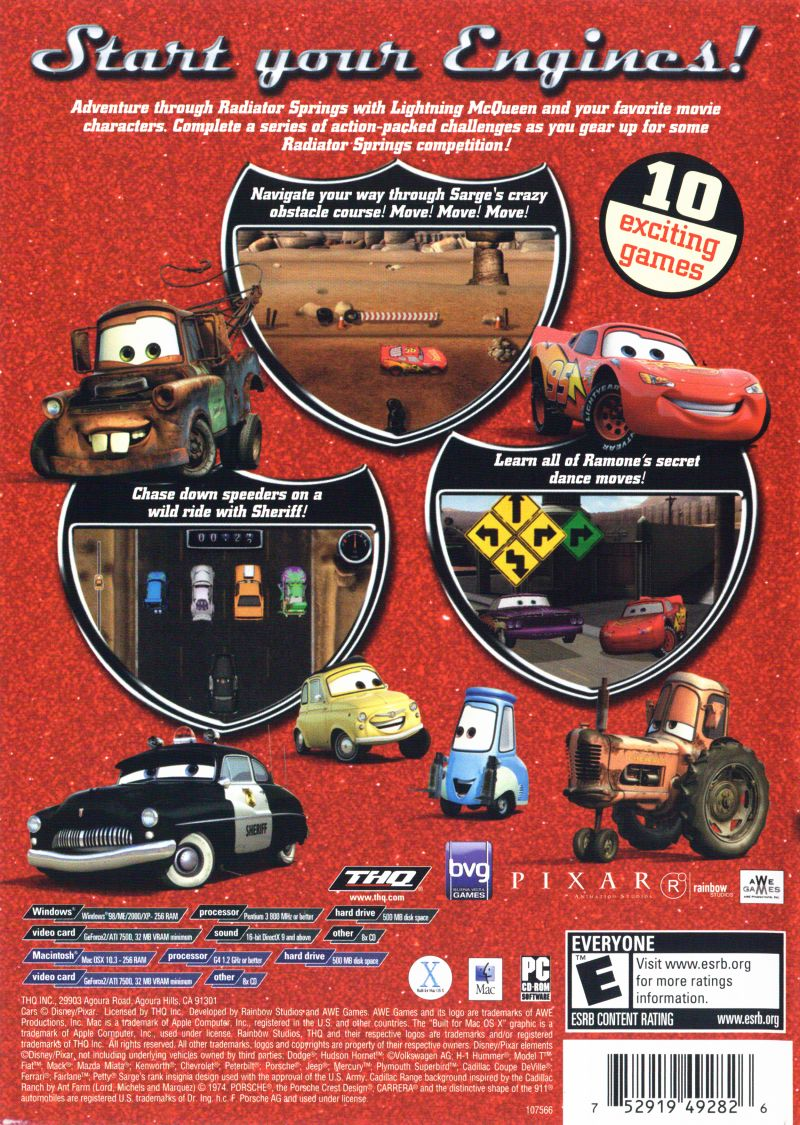 Disney Pixar Cars Radiator Springs Adventures 2006 Windows Box