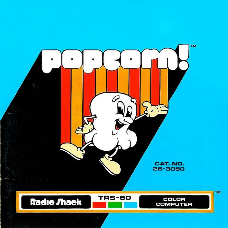 Popcorn! TRS-80 CoCo Front Cover