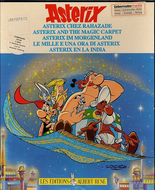 Asterix and the Magic Carpet Commodore 64 Front Cover