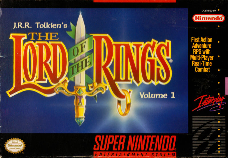 J.R.R. Tolkien's Lord of the Rings: Volume One SNES Front Cover