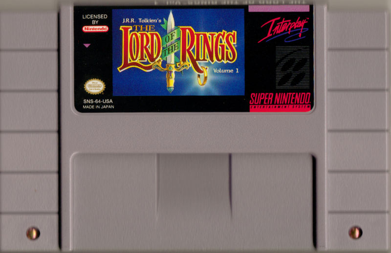 J.R.R. Tolkien's Lord of the Rings: Volume One SNES Media