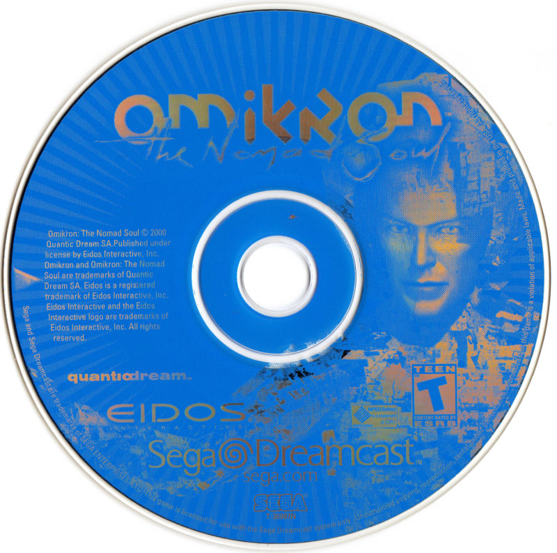 Omikron: The Nomad Soul Dreamcast Media