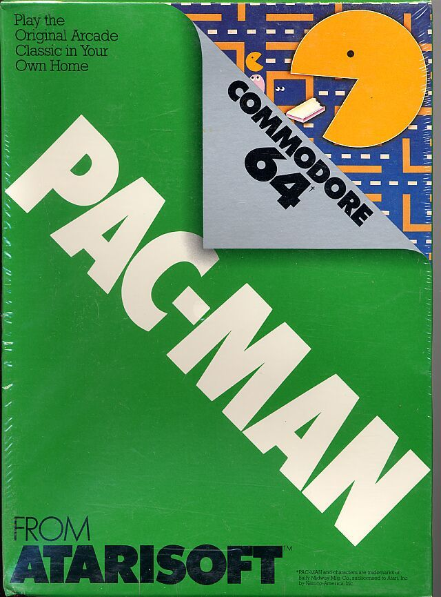Pac-Man Commodore 64 Front Cover