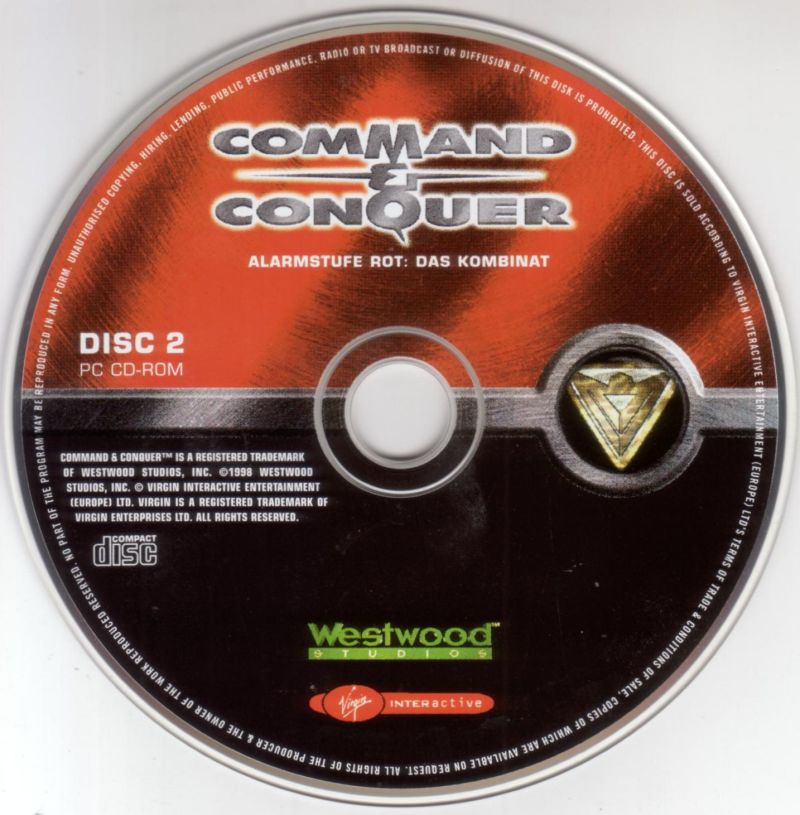 Command & Conquer: Red Alert - The Domination Pack DOS Media Command & Conquer: Red Alert - Disc 2 (Allies)