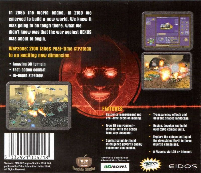 Warzone 2100 Windows Other Jewel Case - Back Cover