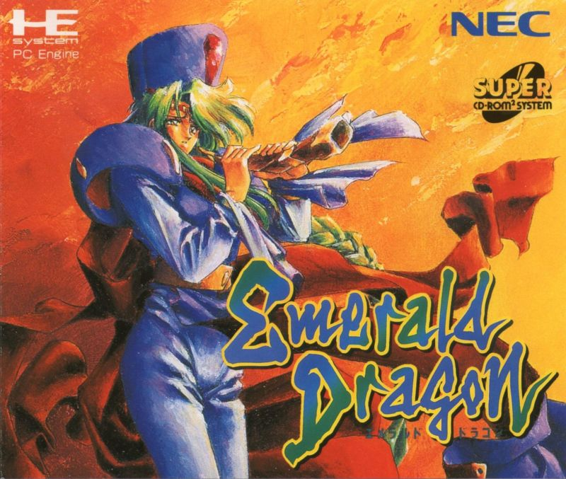 Emerald Dragon TurboGrafx CD Front Cover