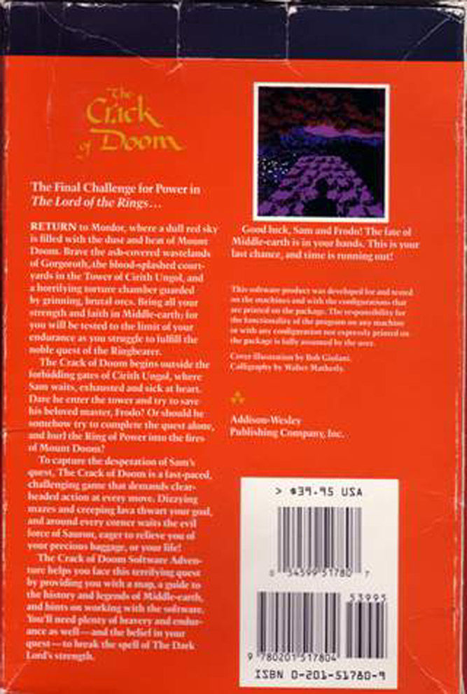 The Crack of Doom DOS Back Cover
