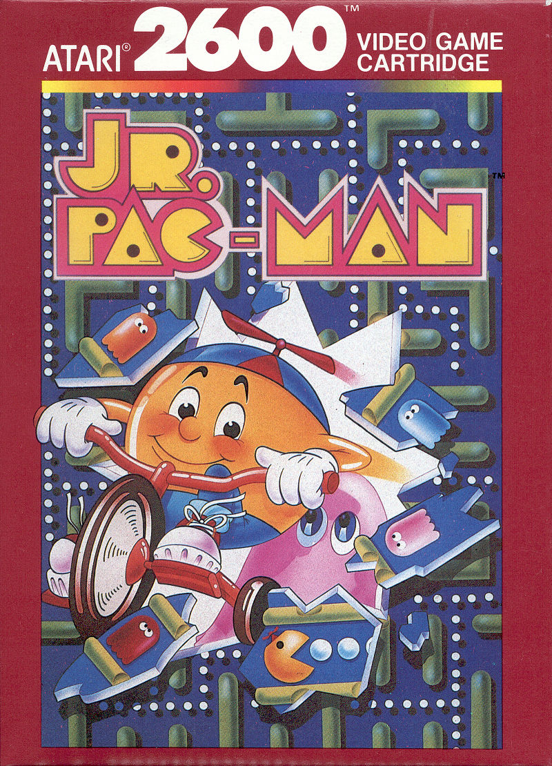 Jr. Pac-Man Atari 2600 Front Cover
