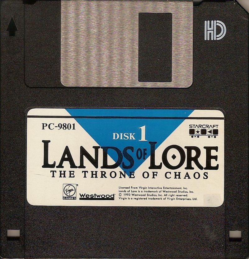 Lands of Lore: The Throne of Chaos PC-98 Media Floppy Disc 1/8