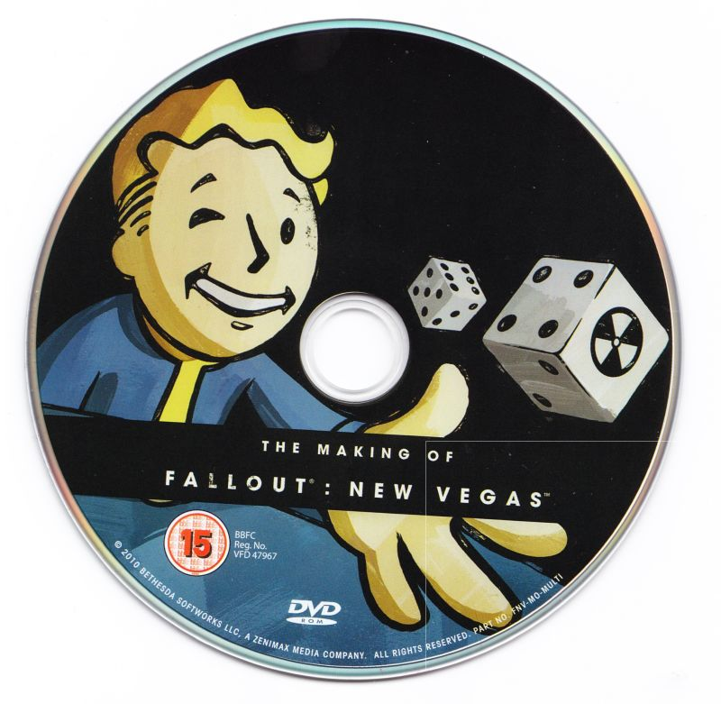 Fallout: New Vegas (Collector's Edition) Xbox 360 Media Bonus DVD