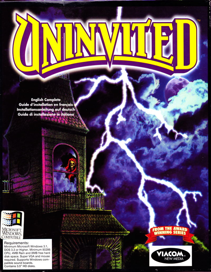 Uninvited Windows 3.x Front Cover