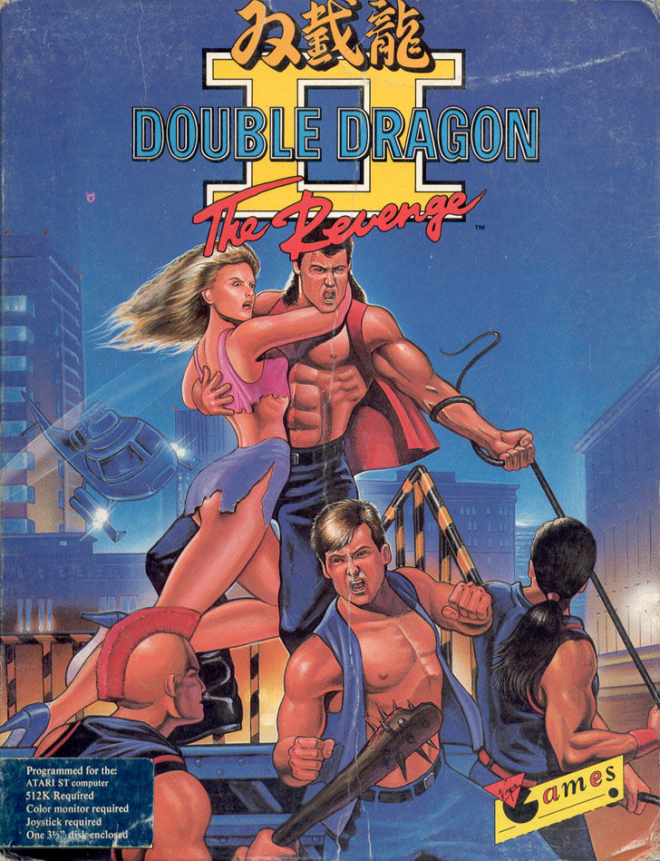 Double Dragon II: The Revenge Atari ST Front Cover