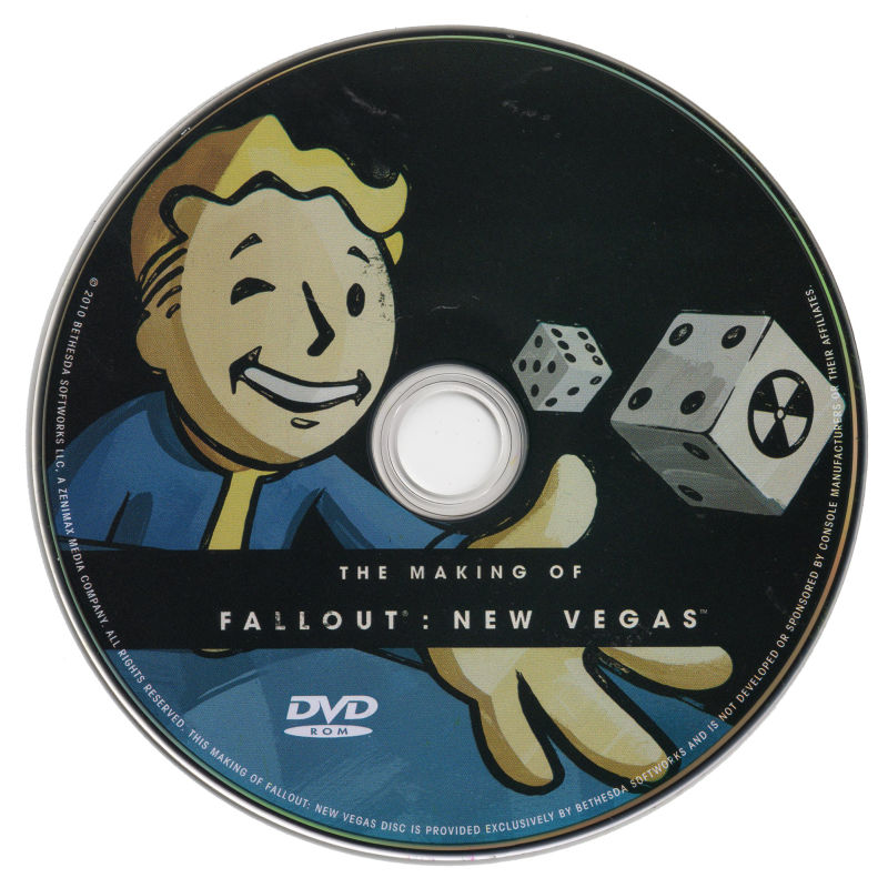 Fallout: New Vegas (Collector's Edition) Xbox 360 Extras Bonus DVD