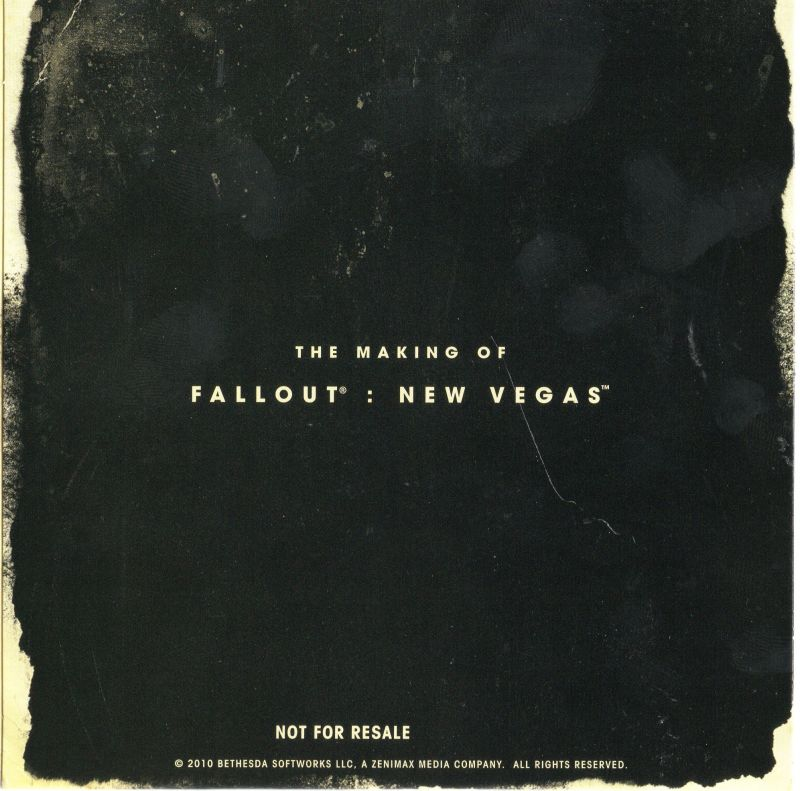 Fallout: New Vegas (Collector's Edition) Xbox 360 Extras Bonus DVD - Sleeve - Back